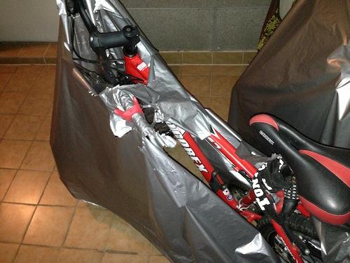 다이소 자전거 커버