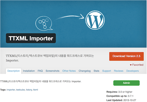 ttxml-importer plugin page