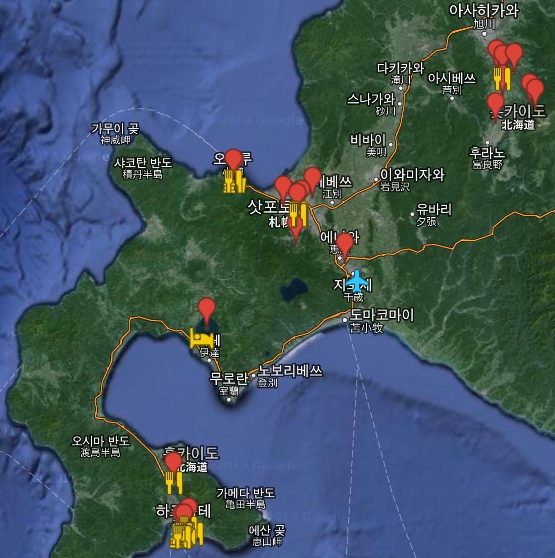 홋카이도 구글맵