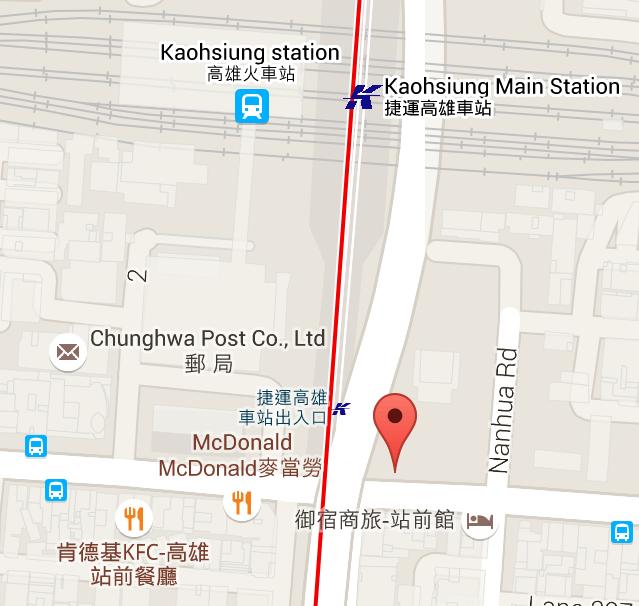 U-bus 가오슝 도착 위치